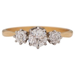 .40 Carat Edwardian Diamond 18 Karat Yellow Gold Engagement Ring