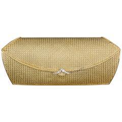 Van Cleef & Arpels Diamond Gold Purse Handbag