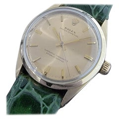 Mens Rolex Oyster Perpetual 1024 Gold-Capped Automatic 1960s Vintage RA185