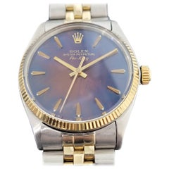 Mens Rolex Oyster Perpetual 5501 Air King 14k Gold SS Automatic 1960s RA240