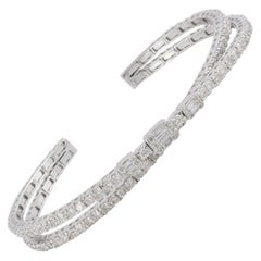 6.10 Carat Diamond 14 Karat Gold Bracelet