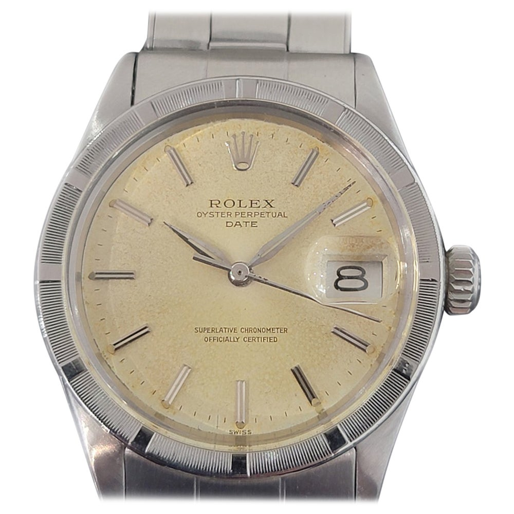 Mens Rolex Oyster Perpetual Date 1501 Automatic 1960s Vintage RA187