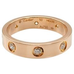 Cartier Rose Gold Full Diamond Love Wedding  Band Ring