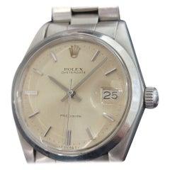 Mens Rolex Oysterdate Precision Ref 6694 Hand-Wind 1970s Vintage RA202