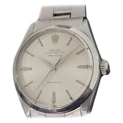 Mens Rolex Oyster Precision 1002 Air King Automatic 1960s wPaper RA249