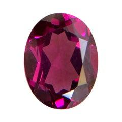 2.13ct Vivid Pink Purple Rhodolite Garnet Oval Cut Rare Gem