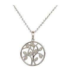 10k 14k 18k Tree of Life pendent with Diamond Spiritual Tree of Life Pendant