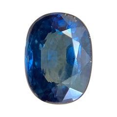 Deep Blue Australia Sapphire 0.56ct Cushion Cut Rare Loose Gem