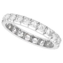 Vintage 1.10Ct Diamond and Platinum Full Eternity Ring, Circa 1940