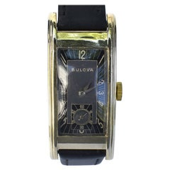 Art Deco 10k Gold Filled Gents Wrist Watch, C1939, Bulova, Fully Serviced