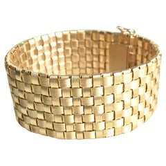 Bracelet in Gold 18 kt with Square Braided Links