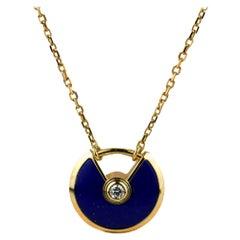 Cartier Amulette de Cartier 18K Yellow Gold Lapis Lazuli Necklace