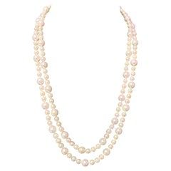 Akoya Pearl Necklace 14k Gold Certified