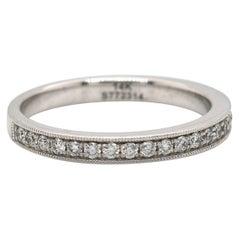 New Gabriel & Co. 0.35ctw Diamond Milgrain Wedding Band Ring in 14K White Gold