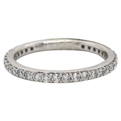 New 0.57ctw Diamond Shared Prong Wedding Band Ring in 14K White Gold