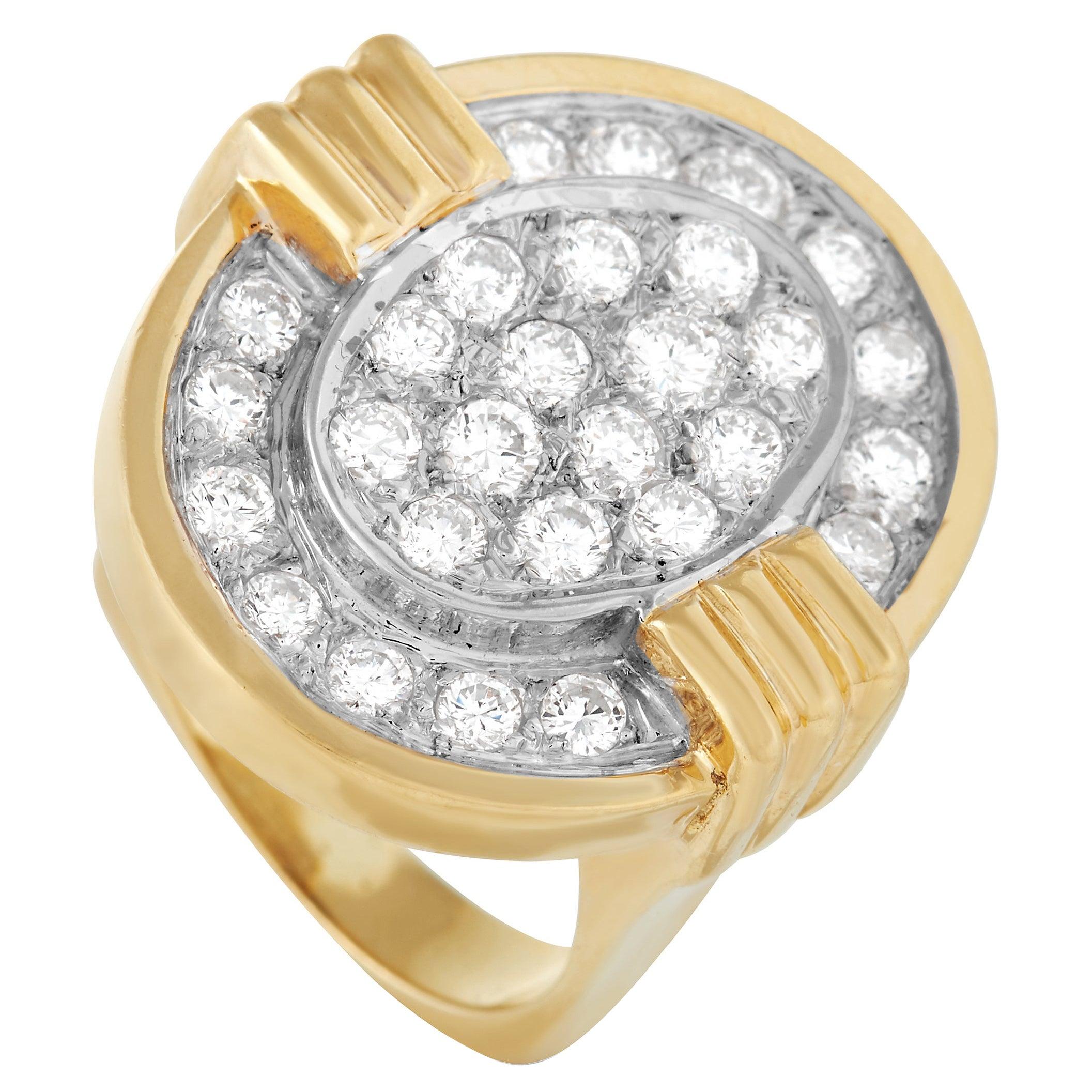 LB Exclusive 18K Yellow Gold 1.50 Ct Diamond Ring
