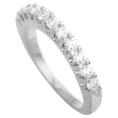LB Exclusive 14K White Gold 0.68 Ct Diamond Eternity Band Ring