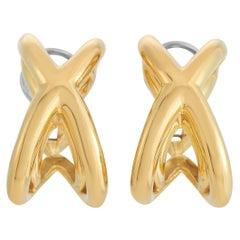 Tiffany & Co. Donald Claflin 18K Yellow Gold X Earrings