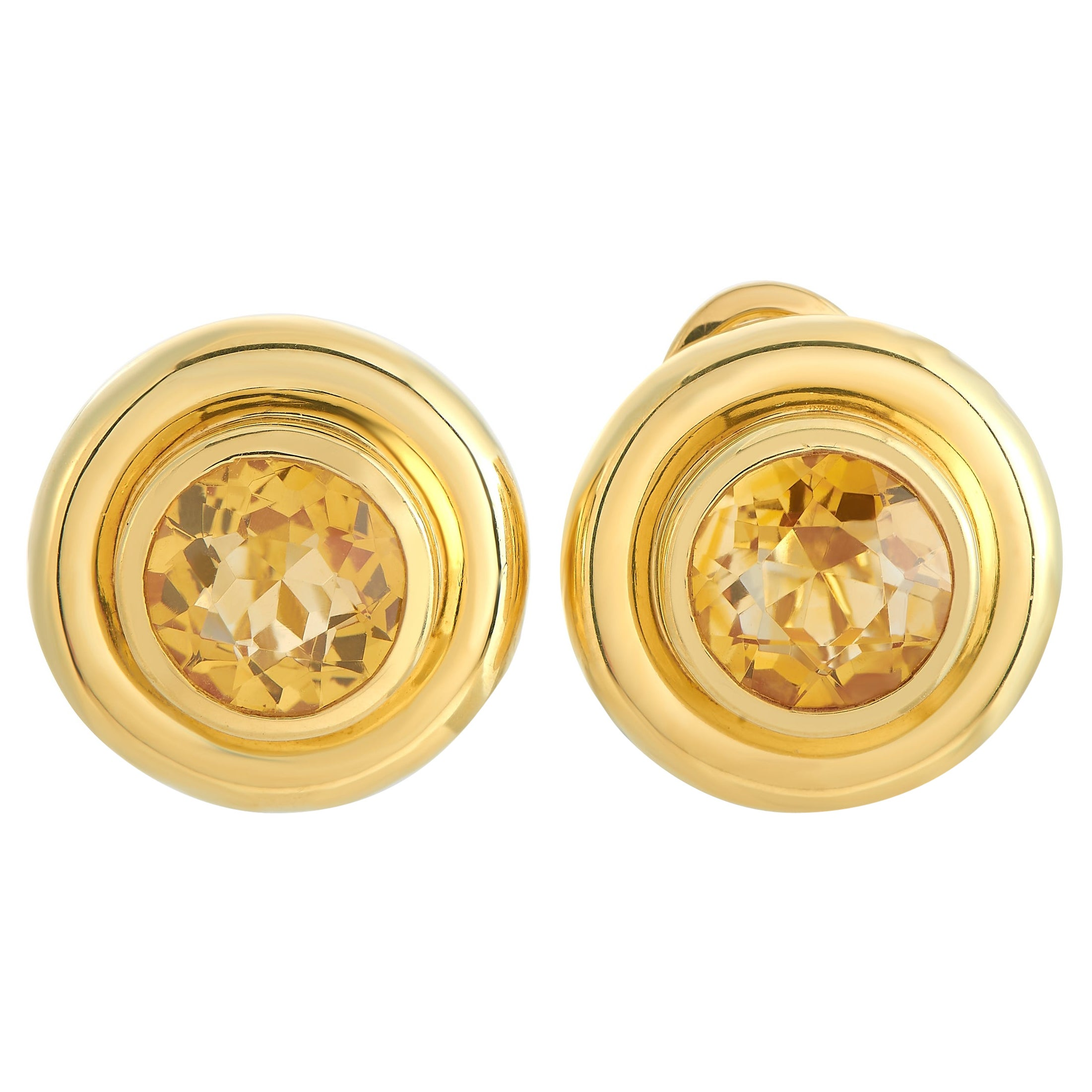 Tiffany & Co. Paloma Picasso 18K Yellow Gold Citrine Earrings