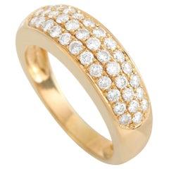 Van Cleef & Arpels 18K Yellow Gold 0.88 Ct Diamond Ring
