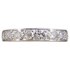 1920's Diamond Full Eternity Ring in 18ct White Gold
