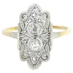 Art Deco 0,42 Carat Old European Cut Diamond Ring