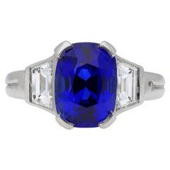 Burmese Sapphire and Diamond Ring, circa 1935