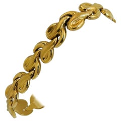 18 Karat Yellow Gold Ladies Fancy Link Bracelet Italy
