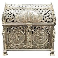 Neresheimer & Sohne Hanau Silver 1890s Reliquary Casket