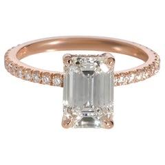 GIA Certified Mark Broumand Diamond Engagement Ring 18K Rose Gold J VS1 1.81 CTW