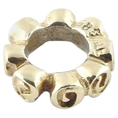 Pandora 14K Yellow Gold Small Tiny Roses Spacer, Retired #750199