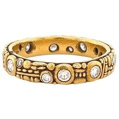 Alex Sepkus Diamond 18 Karat Gold Ring