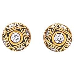 Alex Sepkus Diamond 18 Karat Gold Stud Earrings