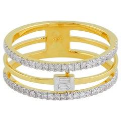 14 Karat Gold Baguette Diamond Ring