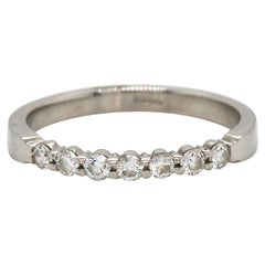 0.21ctw Diamond Shared Prong Wedding Band Ring in Platinum