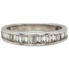 0.50ctw Baguette Diamond Wedding Band Ring in 14K White Gold