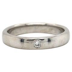 Tiffany & Co. Lucida Single Radiant Diamond Wedding Band Ring in Platinum