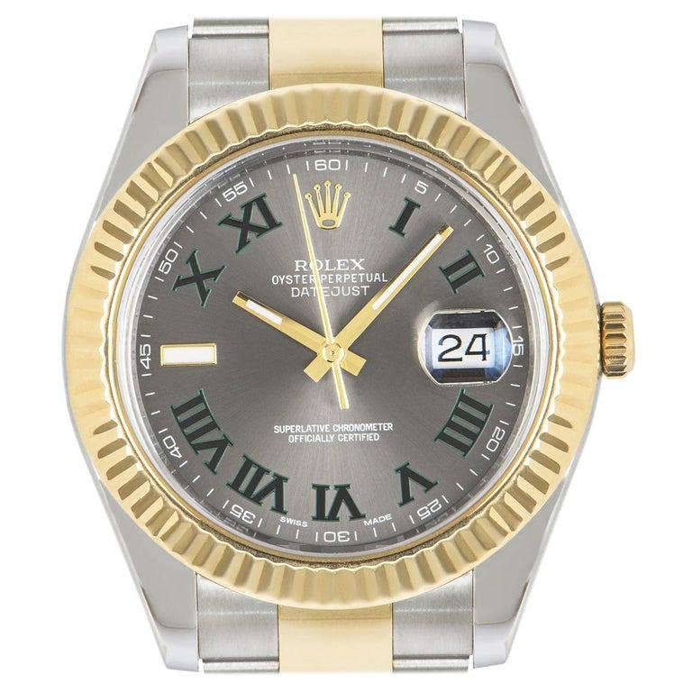 Rolex Datejust II Steel and Gold Wimbledon Dial 116333 Watch