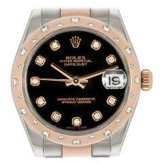 Rolex Datejust Steel and Gold Diamond Set 178341 Watch