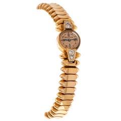 Jaeger LeCoultre Lady Jewelry Bracelet Watch 18 Carat Rose Gold