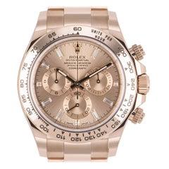 Unworn Rolex Daytona Rose Gold Diamond Dial 116505 Under Warranty