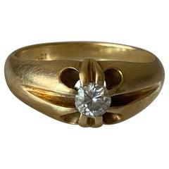 18ct 750 Gold 0.25 Carat Edwardian Diamond Ring