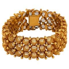 Retro Rose Gold Bracelet, Circa 1940