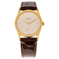 Patek Philippe Calatrava Wrist Watch Ref.3796 18 Carat Yellow Gold from 1988