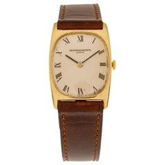 Vacheron & Constantin 18 Carat Yellow Gold Rectangular Wrist Watch from 1950's