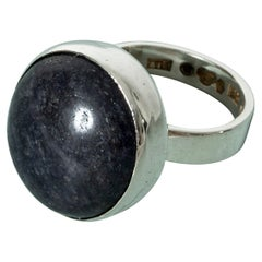 Silver and Sodalite Ring by Cecilia Johansson