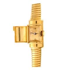 "Universal Genève Lady Wrist Watch ""Capote"" Model 18 Carat Yellow Gold"