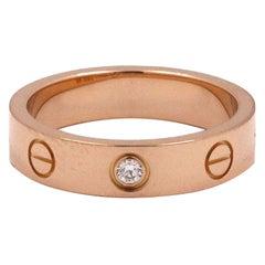 Cartier 'Love' Rose Gold Diamond Wedding Band