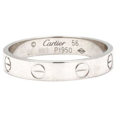 Cartier Love Platinum Wedding Band
