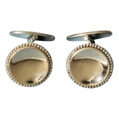 Pair of Swedish Midcentury Gilded Cufflinks by Ceson, Sweden, 1952